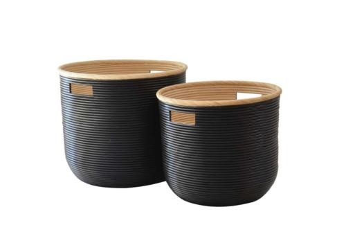 Ralph Basket Set Of 2 (Colour Black) Bowl