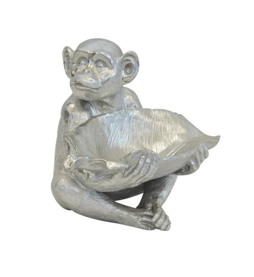 Resin Monkey Bowl (Colour Silver) Bowl