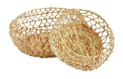River Basket Loose Weave Set Of 2 (Colour Natural) Bowl
