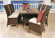Salvador 9 Piece Outdoor Dining Set Without Cushions (Colour Wood Series)
