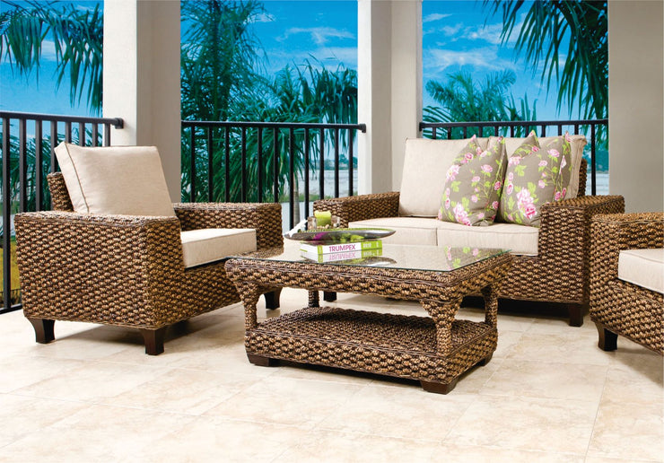 Scott 4 Piece Outdoor Lounge Set with Cushions (Colour Antique)