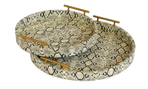 Shagreen Doris Tray Set Of 2 (Colour Python) Bowl