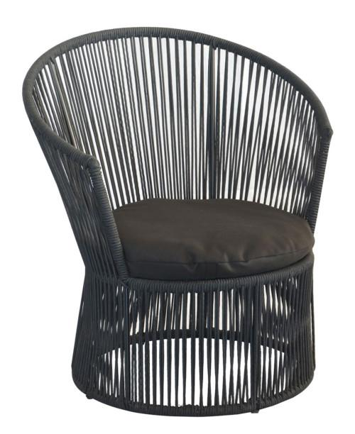 String Tub Chair Excluding Cushion (Colour Black) Occasional Chairs
