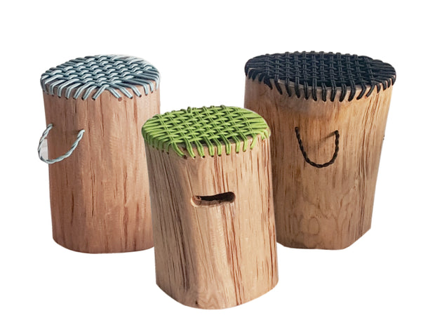 Teakwood Rope Stools (Colour Natural)