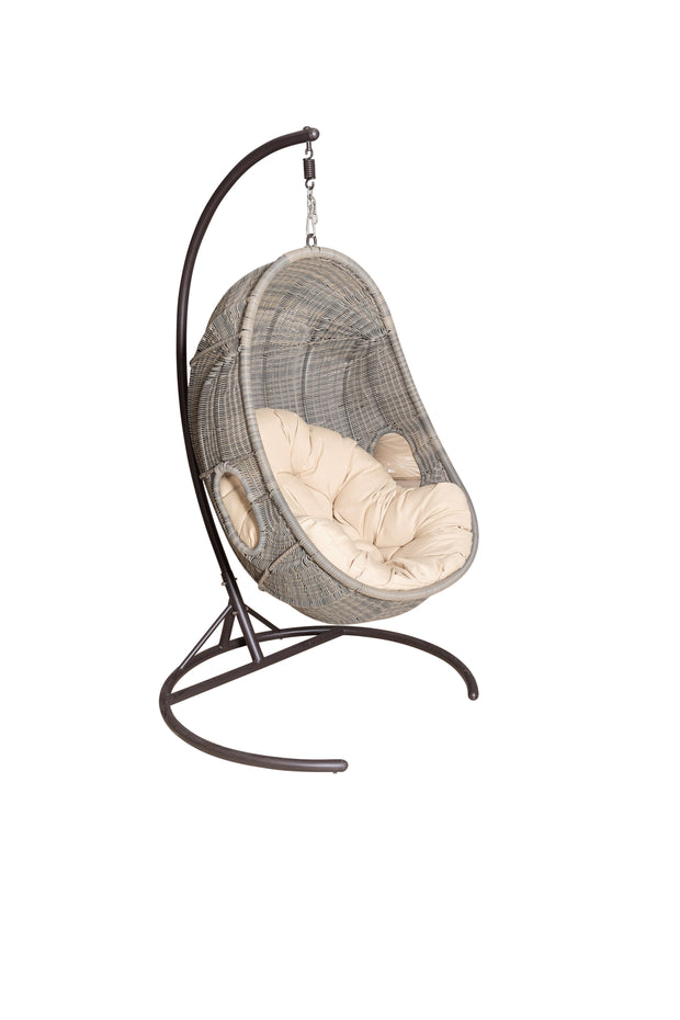 Tuscany Outdoor Hanging Chair with cushion (Colour Stone)
