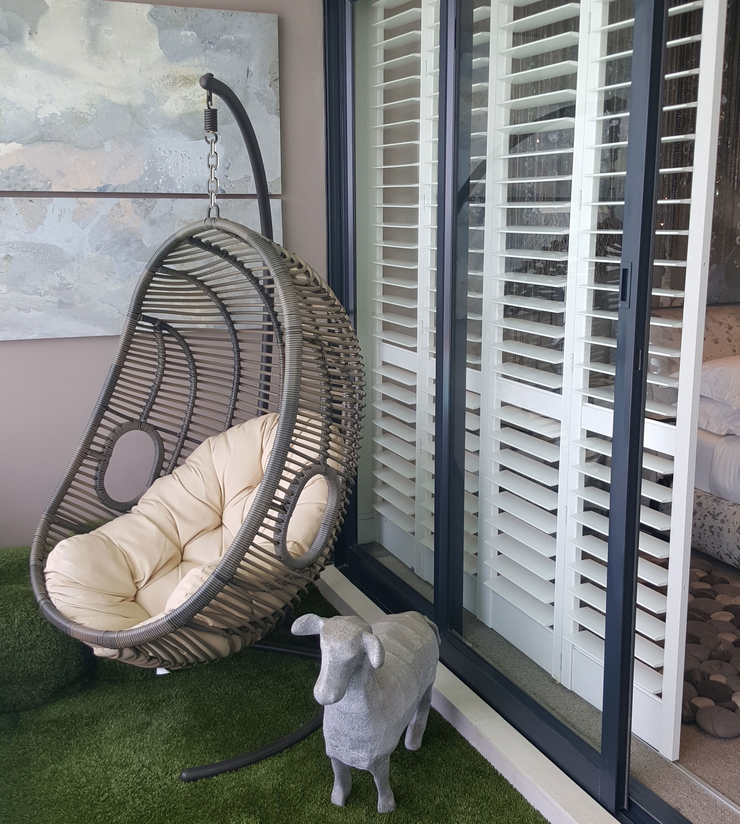 Valencia Outdoor Hanging Chair With Cushion (Colour Stone) Chair
