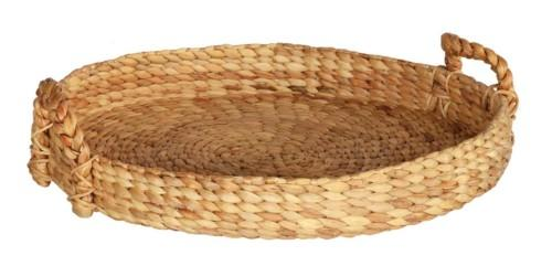 Water Hyacinth Basket Tray Round Bowl