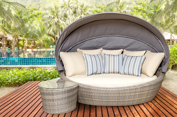 Westlake Outdoor Daybed With Cushions (Colour Stone)