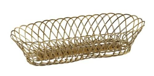 Wire Basket Oval (Colour Gold) Bowl