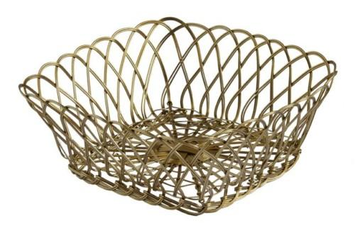 Wire Basket Square (Colour Natural) Bowl