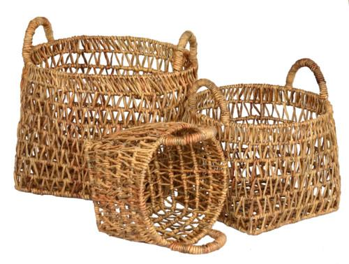 Basket Sumba Set Of 3 (Colour Natural) Bowl