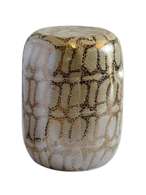 Garden Stool Snake Skin (Colour Cream/bronze) Stools