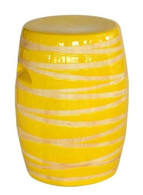 Garden Stool Woodgrain (Colour Yellow) Stools