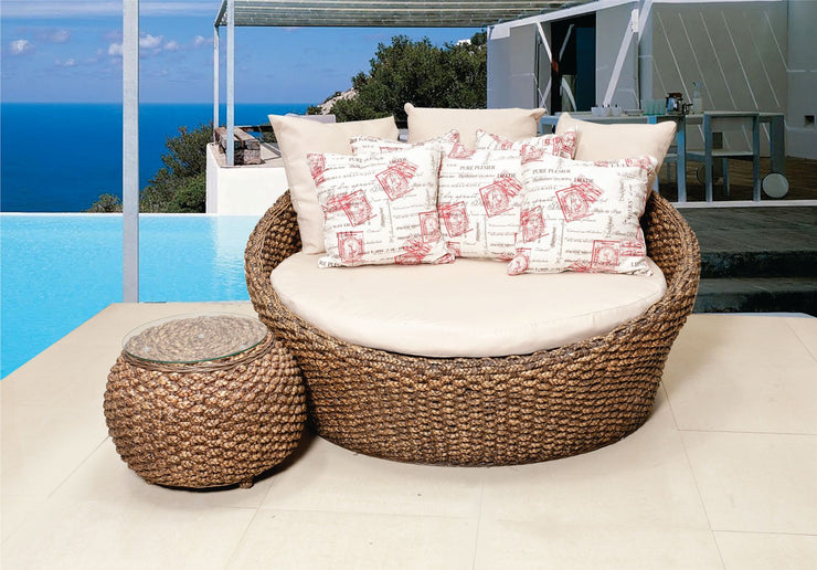 Lara Outdoor Daybed with cushions (Colour Antique)