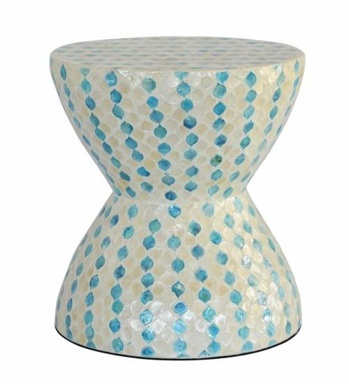 Mop Stool (Colour Blue/cream) Stools