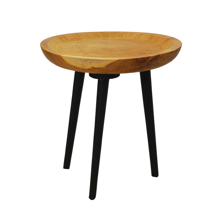 Sagaw Side Table Small (Colour Teakwood Natural & Black)
