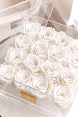 Everlasting Roses- 16 Roses with Drawer (choose color)
