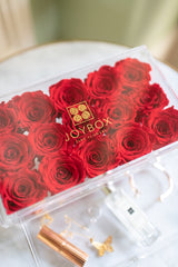 "Everlasting Rose ""Trésor"" Treasure Box- Classic Red (choose color)"