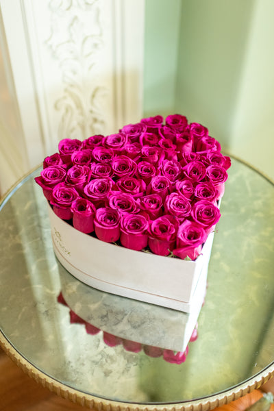 Signature heart box with Roses