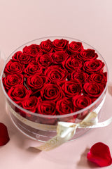 NEW! Everlasting Roses- 25 Roses Round Box (choose color)