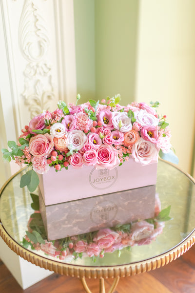Tabletop Garden Box- Pink Palette