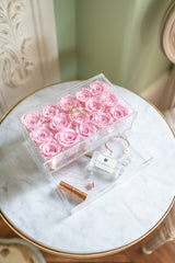 "NEW! Everlasting Rose ""Trésor"" Treasure Box- Light Pink"