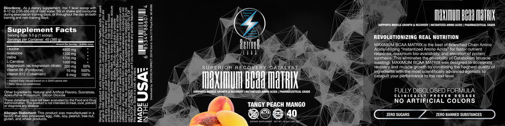 Maximum BCAA Matrix Tangy Peach Mango