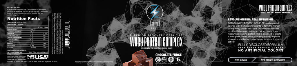 Whey Protein Complex Chocolate Fudge 5lb