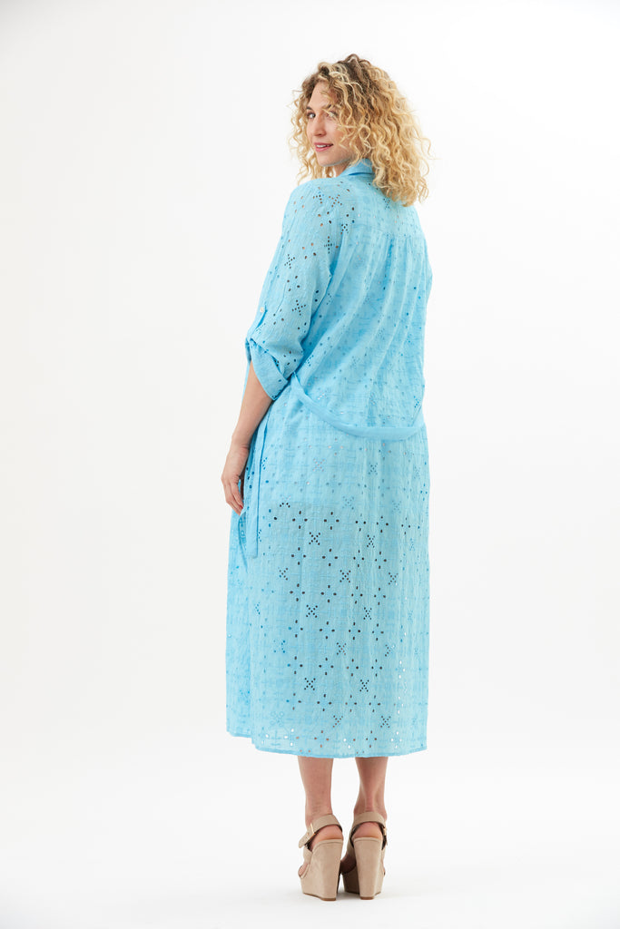 Rumi Eyelet Long Duster