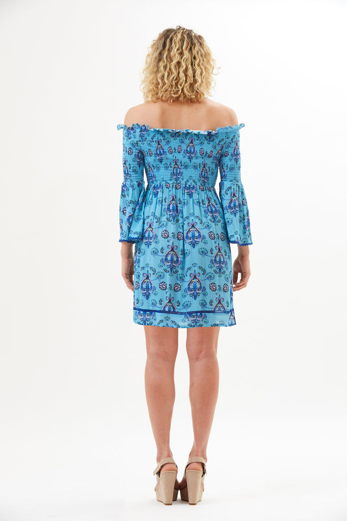 Amara Smocked Off-Shoulder Dress