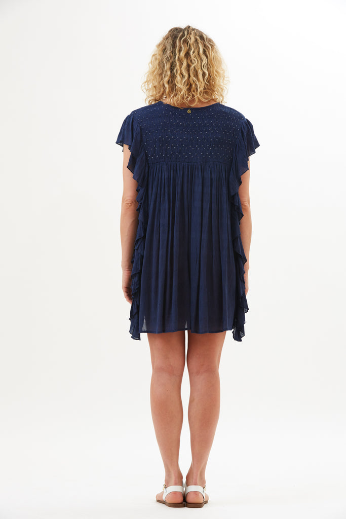 Leila Vintage Ruffle Cover Dress