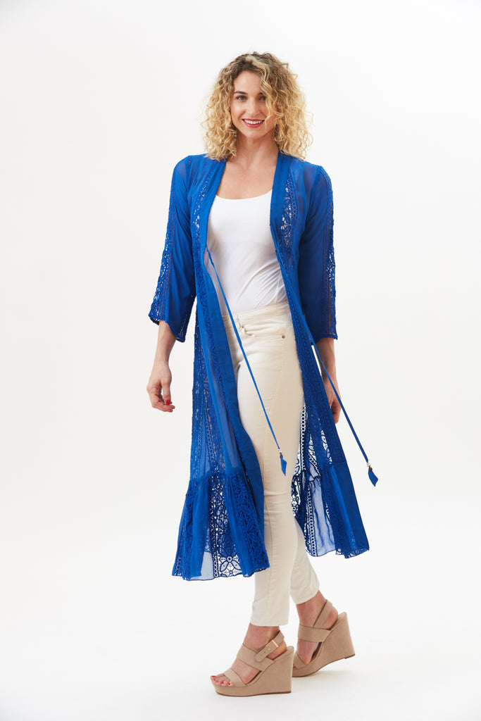 Kali Vintage Lace Long Duster