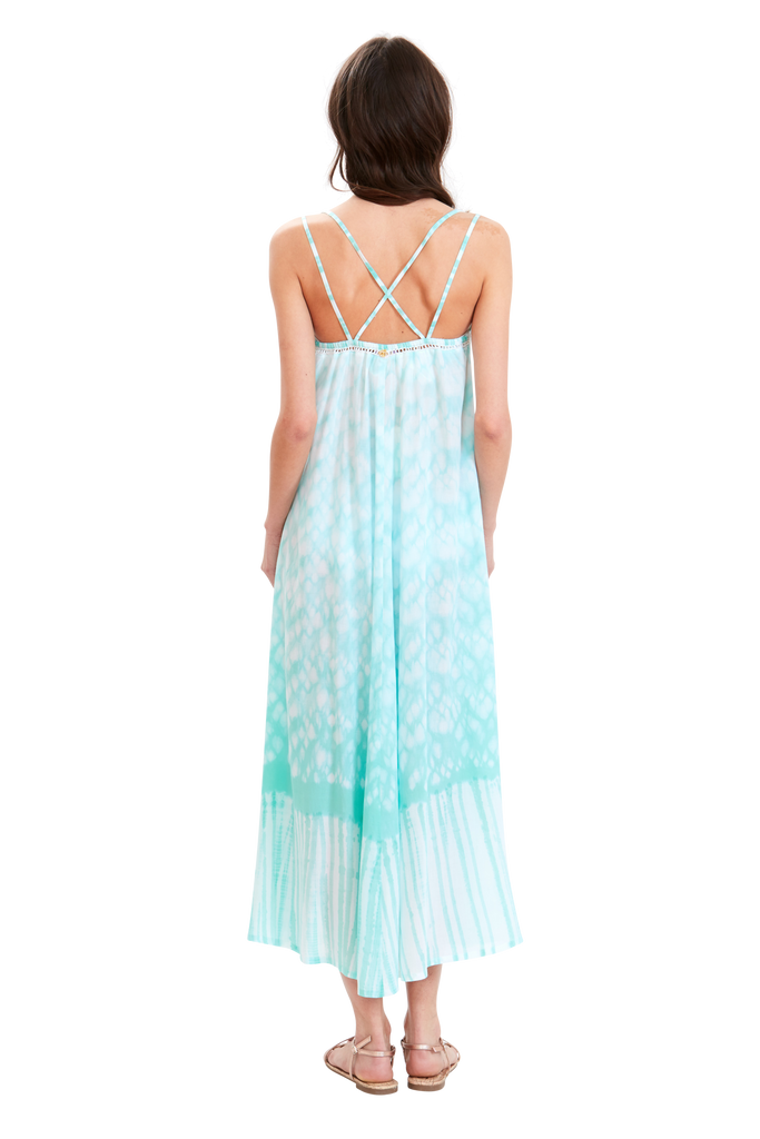 Wandering Waves Cross-Back Dress