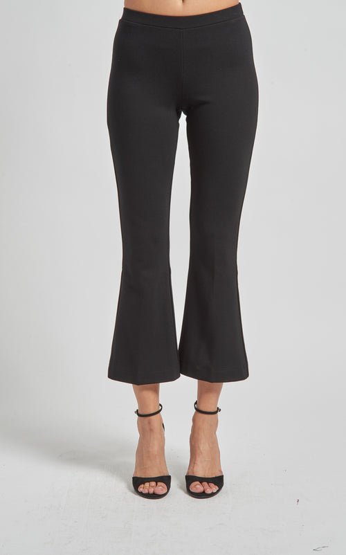 Pull On Cropped Flared Pant