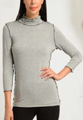 Scallop Edge Turtle Neck