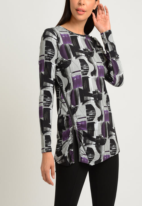 Long Sleeve top with Side Zipper Detail