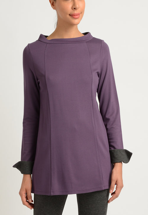 Long Sleeve Funnel Neck Tunic