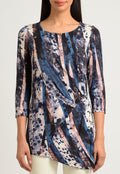 Crackle Wave Draped Top