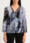 Frozen Forest Shirred V-Neck Top