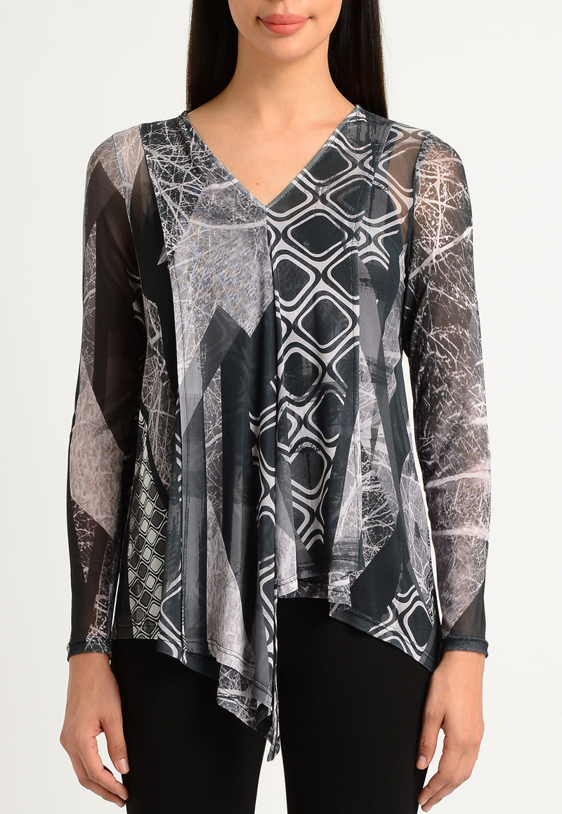 Frozen Forest Draped V-Neck
