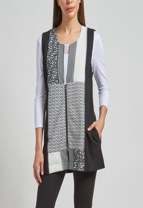 Long Vest with Piecing