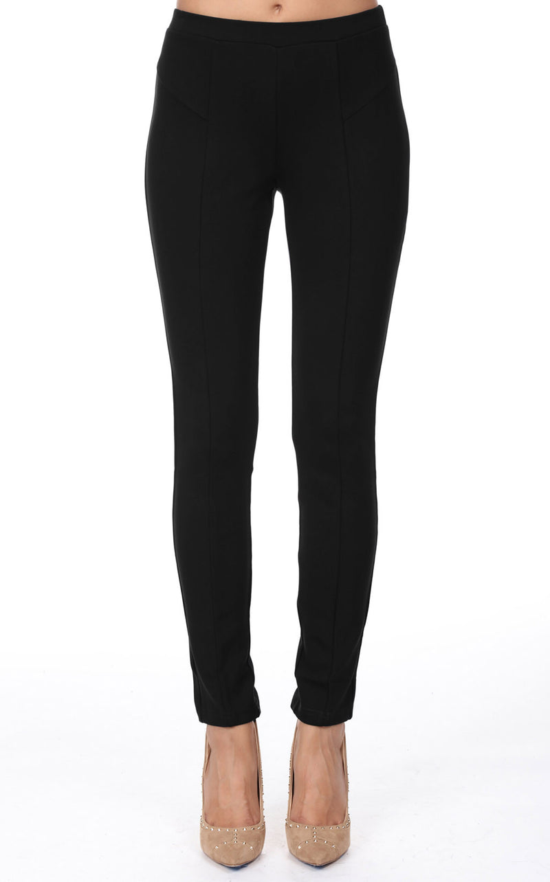 X7608 Slim Knit Seamed Pant Women's BLACK ONLY