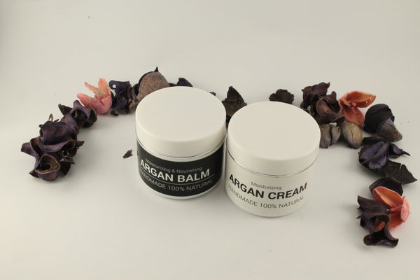 image argan cream handmade 100% organic and balm