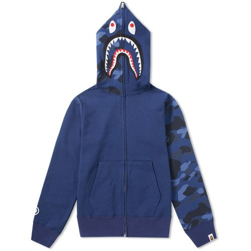 A Bathing Ape Colour Camo Shark Zip Hoodie