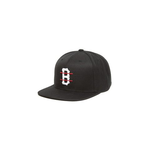 Black  Scale B Logo Red Line Snap Back Black