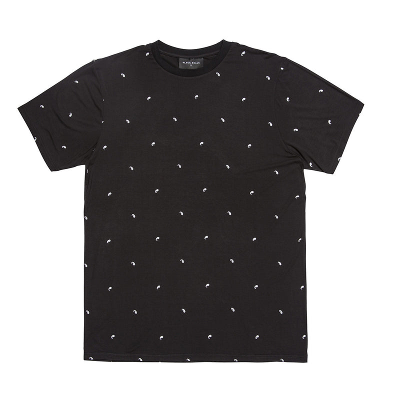 Black Scale Paisley Essential Tee Black