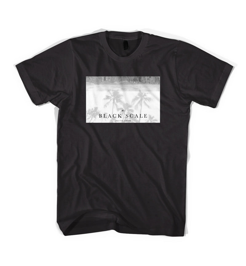 Black Scale City Trees Tee Black