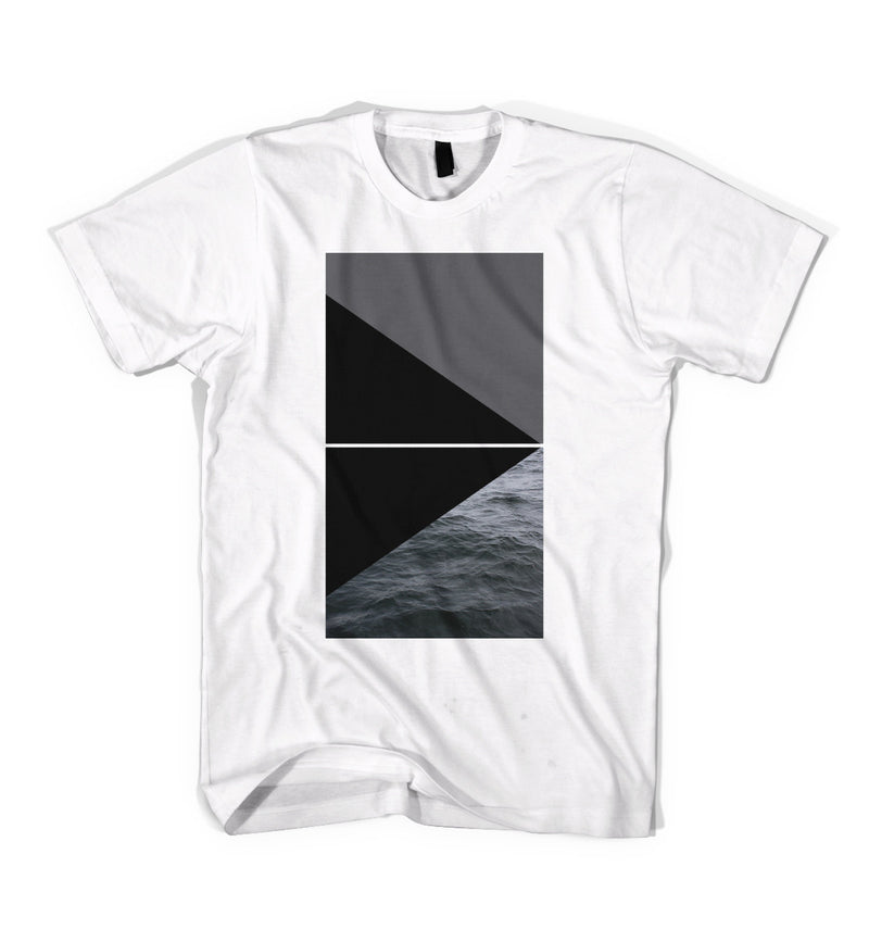 Black Scale Triangle Tee White