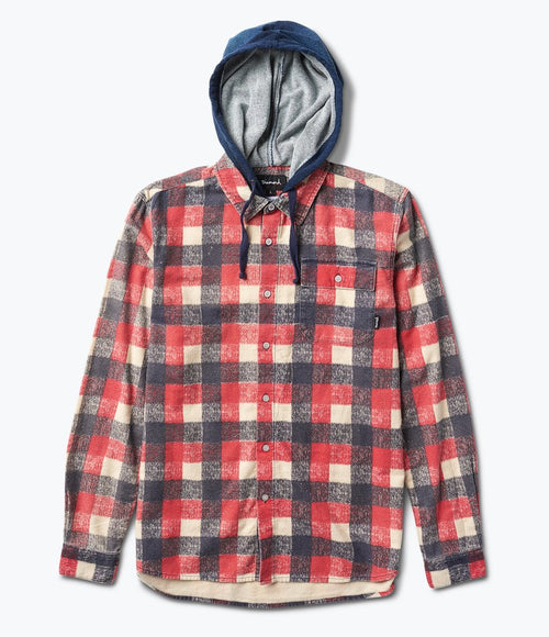 Diamond Hooded Flannel Shirt