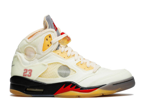 AIR JORDAN 5 RETRO SP Off-White  'FIRE RED' Pre-Order